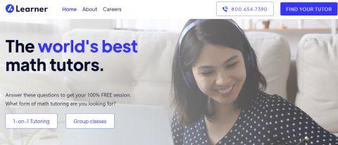 Screenshot of Learner homepage