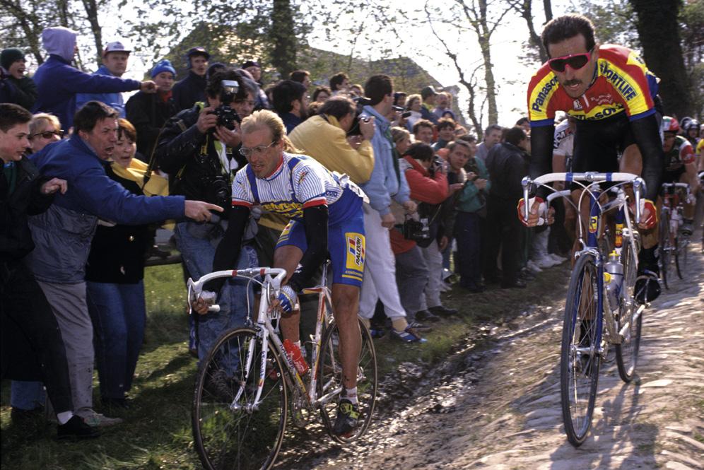 Fignon and Freuler Paris-Roubaix 1990