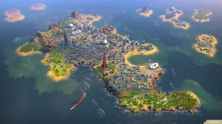 Humankind island city