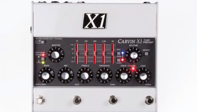carvin announces new x1 all tube preamp pedal guitarworld. Black Bedroom Furniture Sets. Home Design Ideas