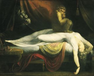 "Sleep paralysis painting ""The Nightmare"""