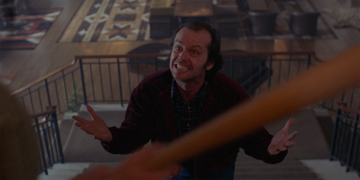 The Shining Jack Torrance on the stairs