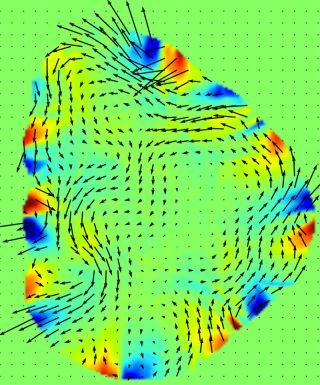 Vortices and spokes emerged in simulations of a superhot fluid called quark-gluon plasma.