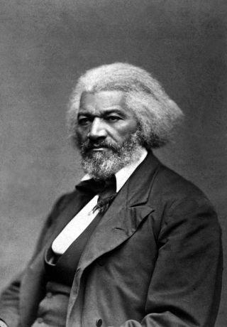 Abolitionist and former slave Frederick Douglass.