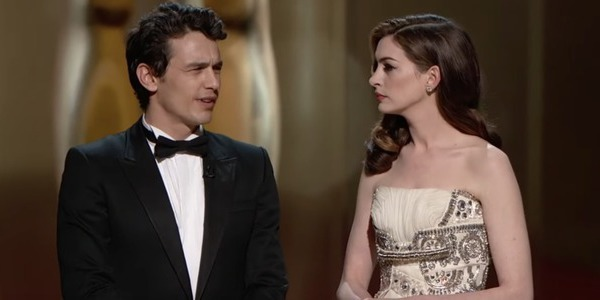 James Franco and Anne Hathaway at the Oscars