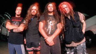 A press shot of Sepultura in 1995