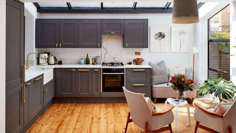 First-time buyers Lois and Guy used their industry skills to turn a tired old ground-floor flat into a spacious modern home