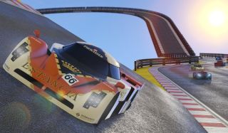 Cars racing in Grand Theft Auto 5