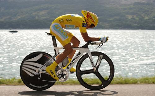 Alberto Contador, Tour de France 2009, stage 18 TT