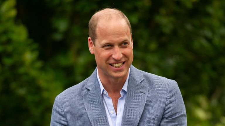 Prince William, Duke of Cambridge hosts an outdoor screening of the Heads Up FA Cup final on the Sandringham Estate on August 1, 2020 in King's Lynn, England
