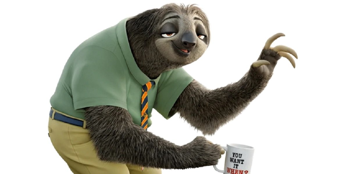 Flash the Sloth in Zootopia
