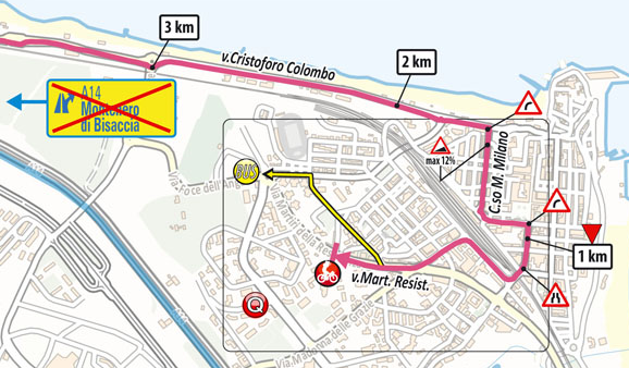 The profile and map of stage 7 of the 2021 Giro d'Italia
