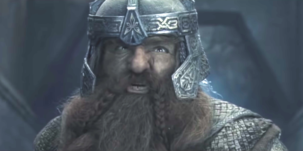 John Rhys-Davis in The Lord Of The Rings: The Fellowship Of The King