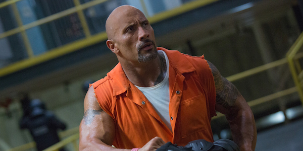 Dwayne Johnson as Hobbs in The Fate of the Furious