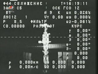 View of Space Station from Progress 48
