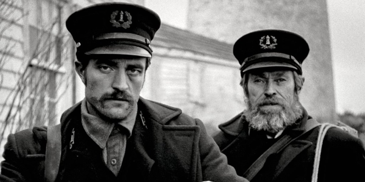 Robert Pattinson and Willem Dafoe in The Lighthouse