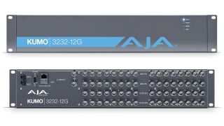 AJA Video Systems has started shipping KUMO 3232-12G compact routers, featuring 32x 12G-SDI inputs and 32x 12G-SDI outputs in a portable 2RU profile for flexible 12G-SDI routing.