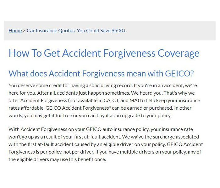 Geico Accident Forgiveness >> Geico Accident Forgiveness Top New Car Release Date