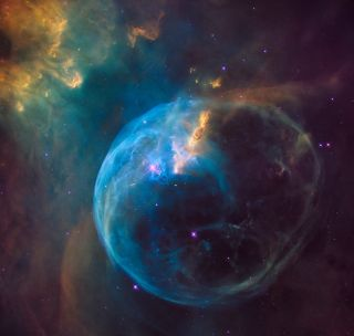 Bubble Nebula Image for Hubble's 26th Anniversary