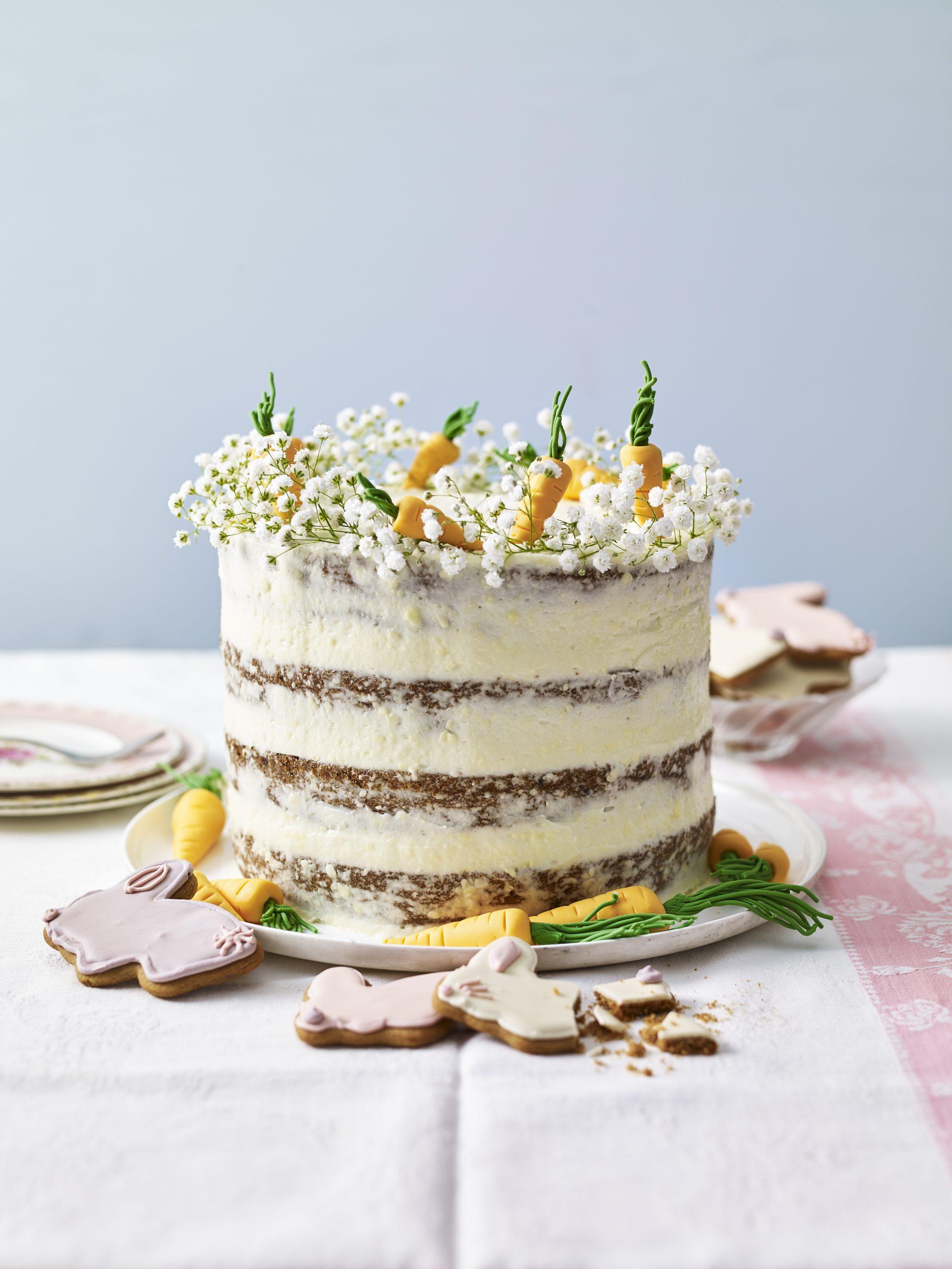 Astonishing Easter Carrot Cake Dessert Recipes Womanhome Personalised Birthday Cards Bromeletsinfo