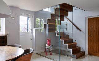 Glass box staircase design from Bisca