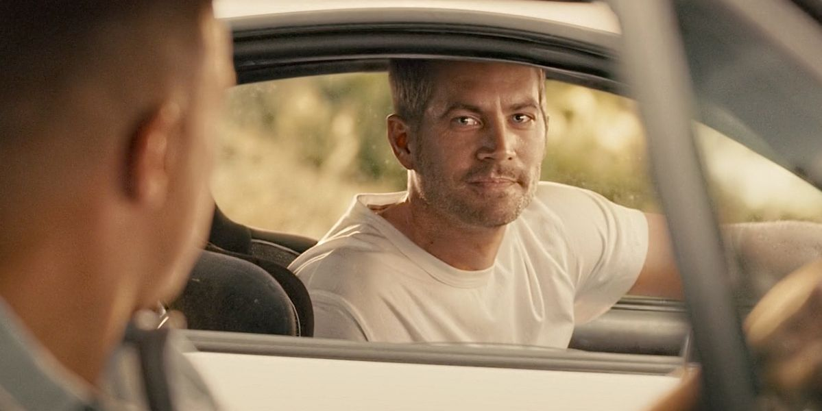 Paul Walker CGI image in Furious 7