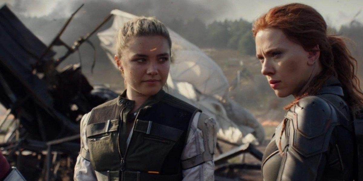 Florence Pugh in Black Widow with Scarlett Johansson