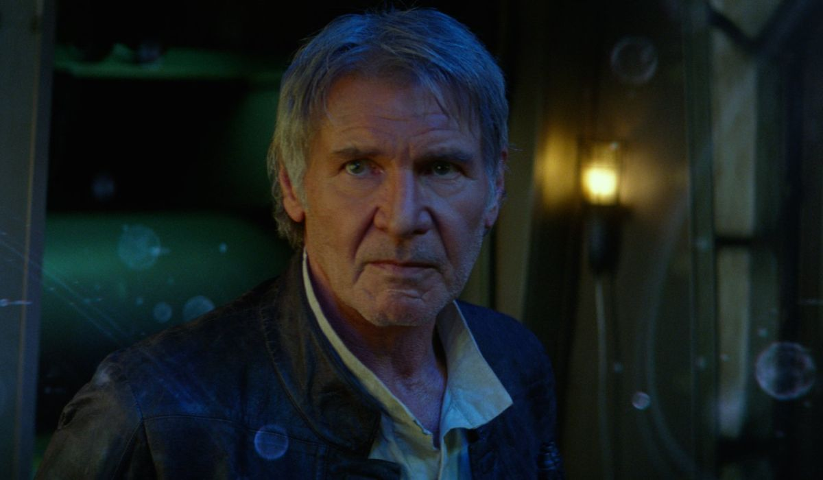Harrison Ford as Han Solo in Star Wars; The Force Awakens