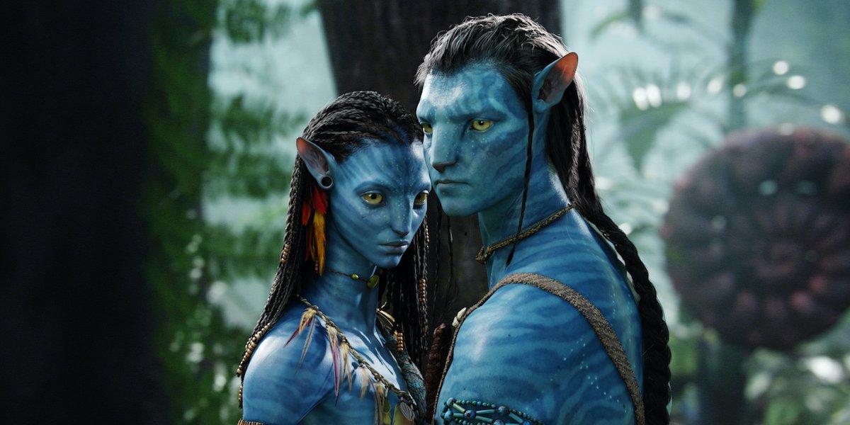 Sam Worthington and Zoe Saldana in Avatar