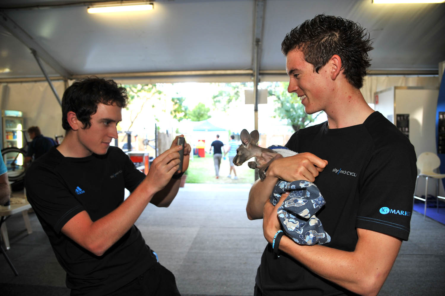 Geraint Thomas and Ben Swift, Tour Down Under 2011