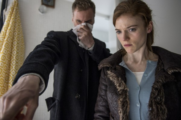 Darren Boyd as DCI Theo Bloom and Rose Leslie as DS Emma Lane in Luther