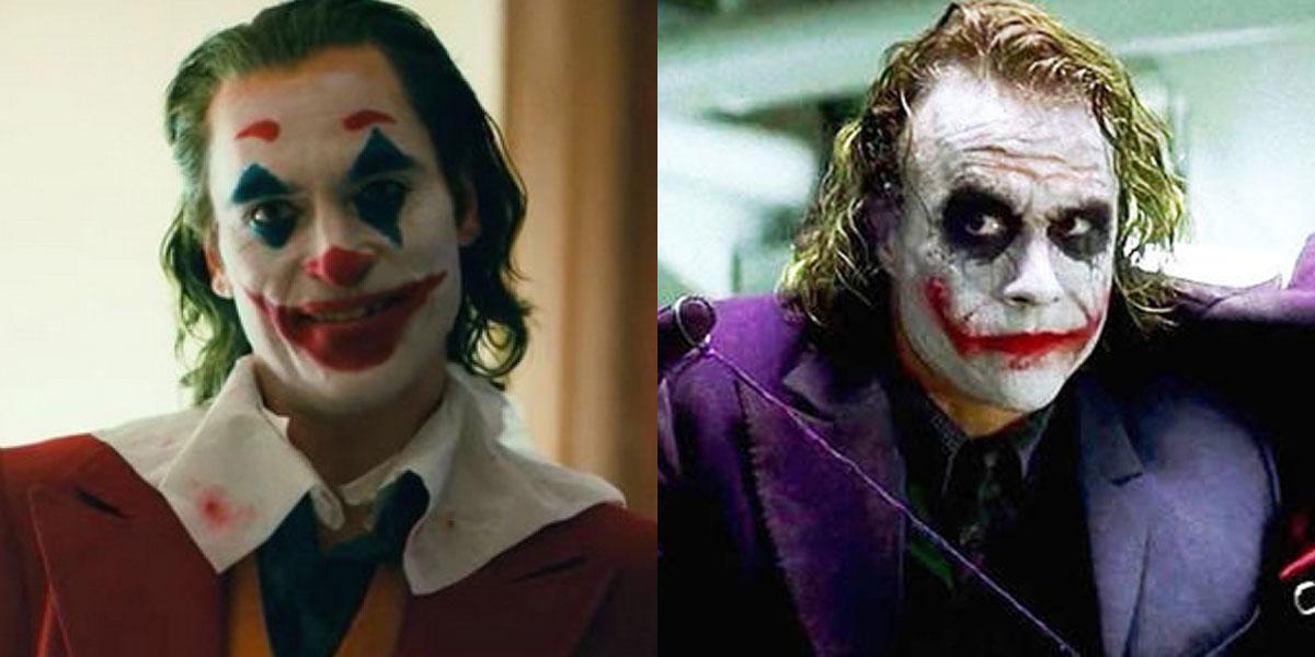 Heather Ledger and Joaquin Phoenix's Jokers.