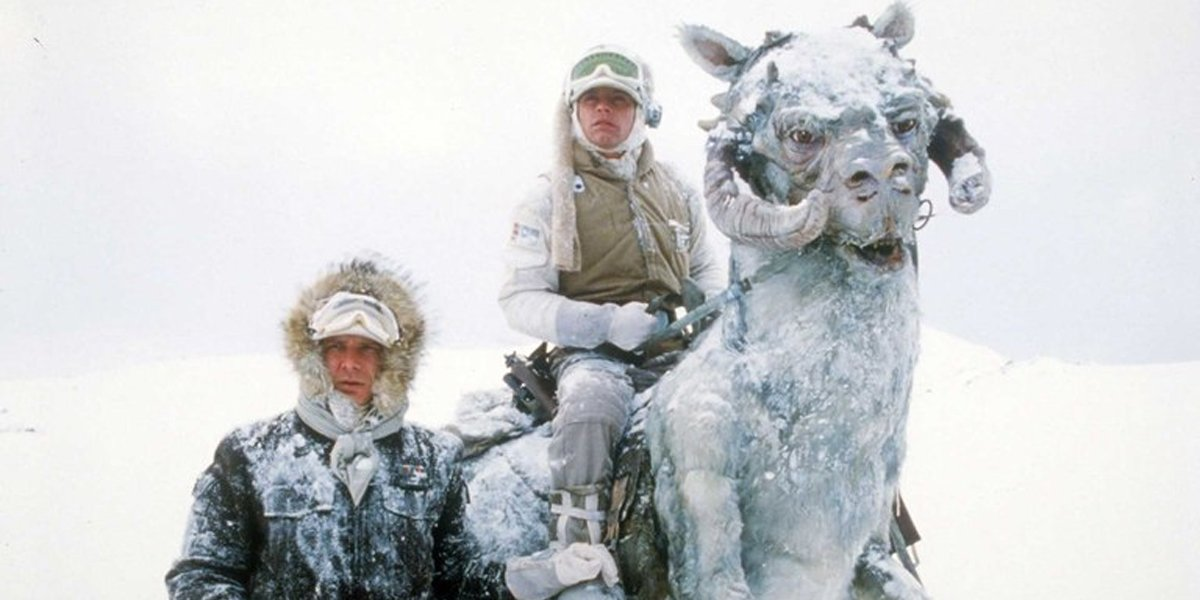Star Wars tauntauns in The Empire Strikes Back