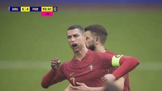 A screenshot from eFootball 2022 showing Cristiano Ronaldo