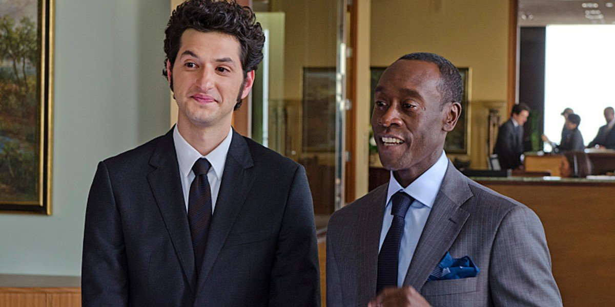 Ben Schwartz and Don Cheadle in House of Lies