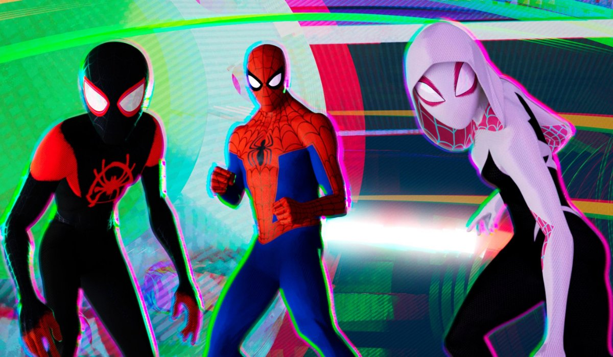 Spider-Man: Into The Spider-Verse Miles, Peter, and Gwen suited up