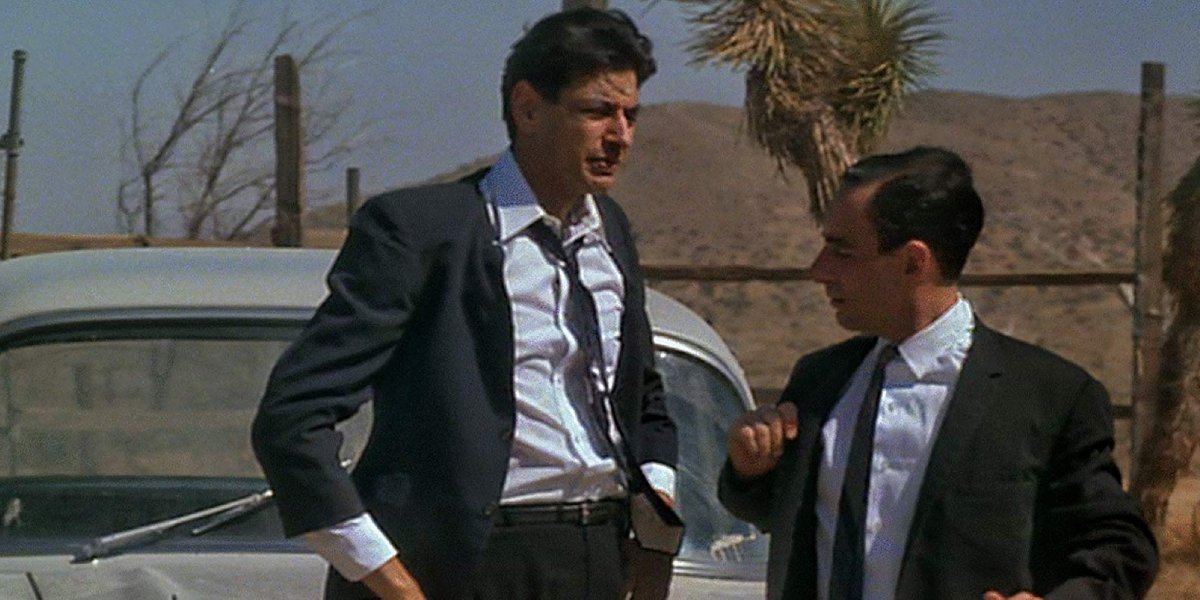 Jeff Goldblum and Harry Shearer play recruiters in The Right Stuff