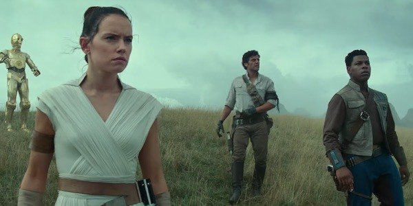Rey, Poe, and Finn in Star Wars: The Rise of Skywalker