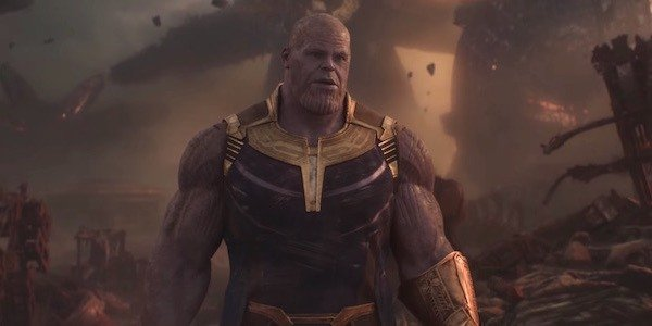thanos in the Collector's lair