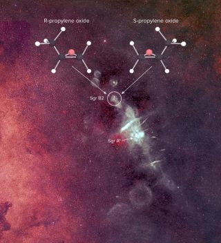 chiral molecule essential for life found in space