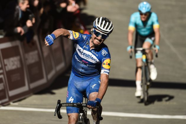 Julian Alaphilippe takes victory in fast and dusty Strade Bianche 2019
