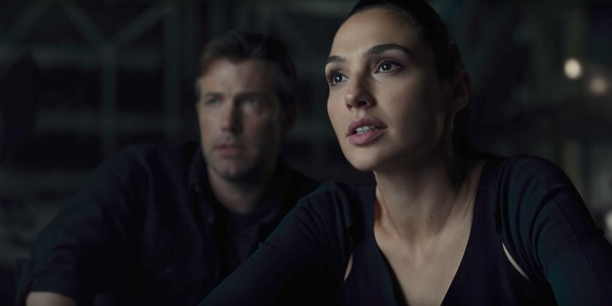 Ben Affleck and Gal Gadot in Justice League
