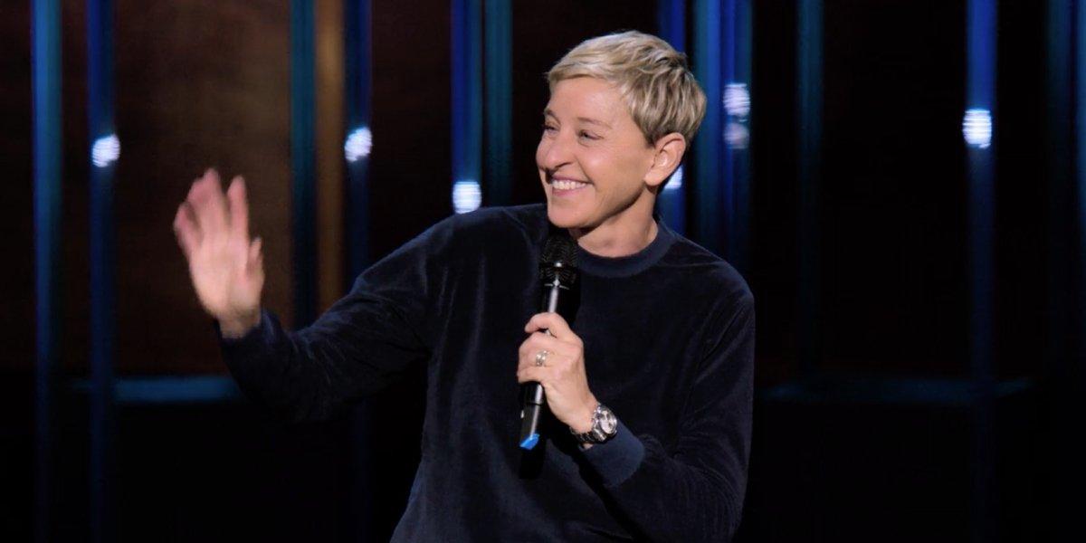 Ellen Degeneres in her Netflix stand-up comedy special Relatable