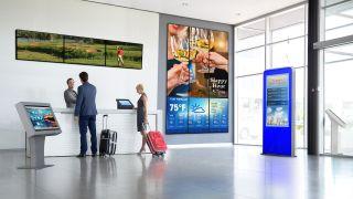 Peerless-AV's Video Wall and Interactive Kiosks in a Hospitality Setting