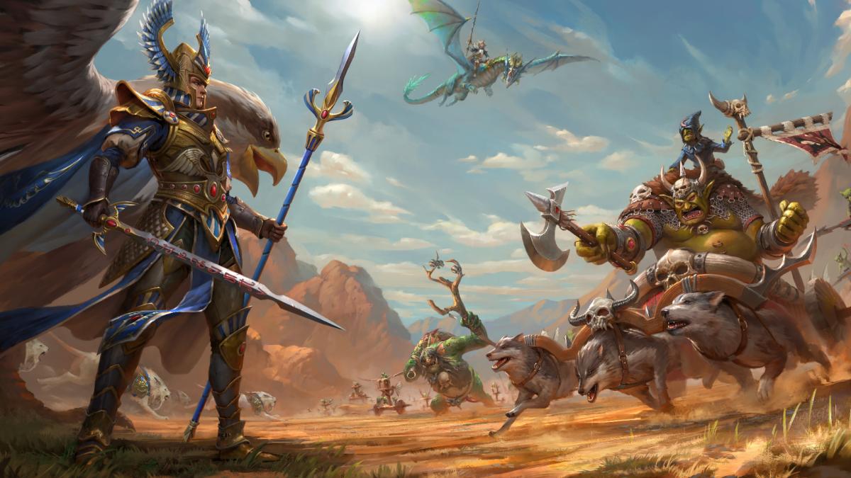 A brutal war between the High Elves and Greenskins is the next DLC for Total War: Warhammer 2