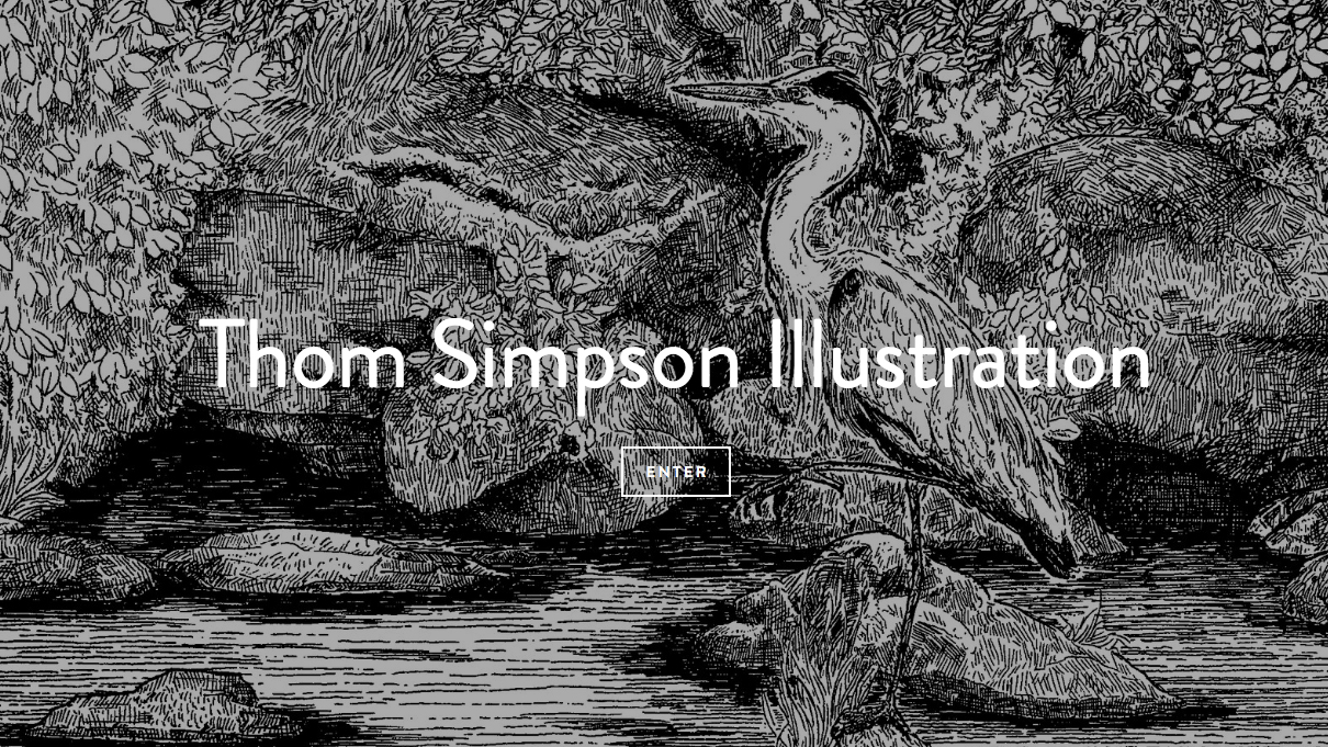 Thom Simpson illustration homepage