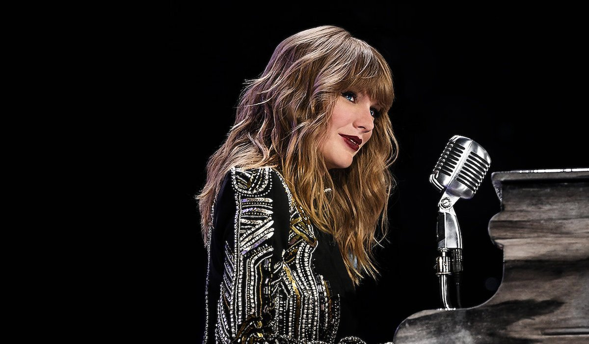 Taylor Swift on stage for the Reputation Stadium Tour
