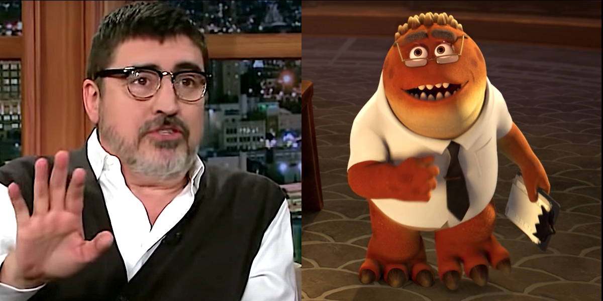 Monsters at Work Alfred Molina is Professor Knight