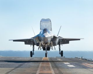 F-35 Jet Lands Aboard the USS Wasp