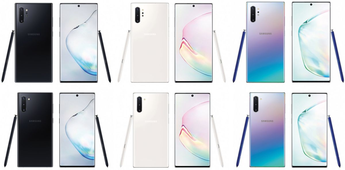 Galaxy Note 10 and Note 10+ Renders Reveal Big Size